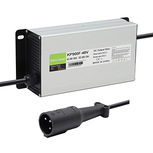 Abakoo Battery Charger 48V 15A for Club Car Golf Cart with 3 Pin Round Plug
