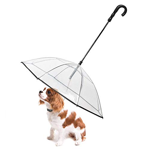 "Lesypet Pet Dog Umbrella with Leash for Small Pets , Fits 20"" Back Length Pets"