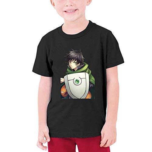 YGYP The Rising of The Shield Hero Naofumi Iwatani Teenage Boys Girls Camiseta Unisex de Manga Corta tee Tops