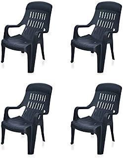 @home by Nilkamal Weekender Garden Set of 4 Chair (Black)