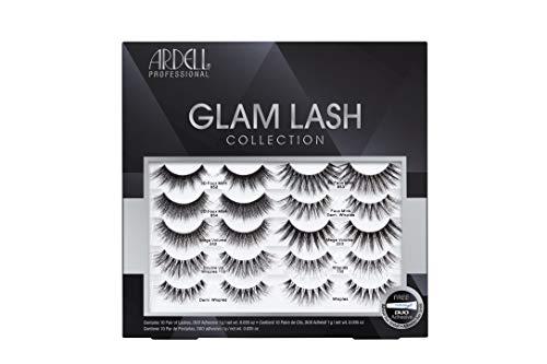ARDELL Professional Glam Lash Collection, Variety Pack 10 künstliche verschiedene Wimpernpaare aus Synthetik- oder Echthaar (mit Wimpernkleber)