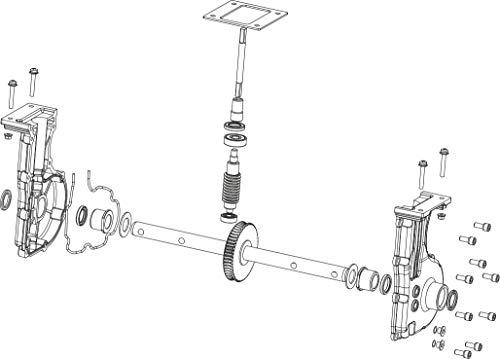 ATIKA Ersatzteil | Getriebeeinheit kpl. für Bodenhacke BH 1400 N