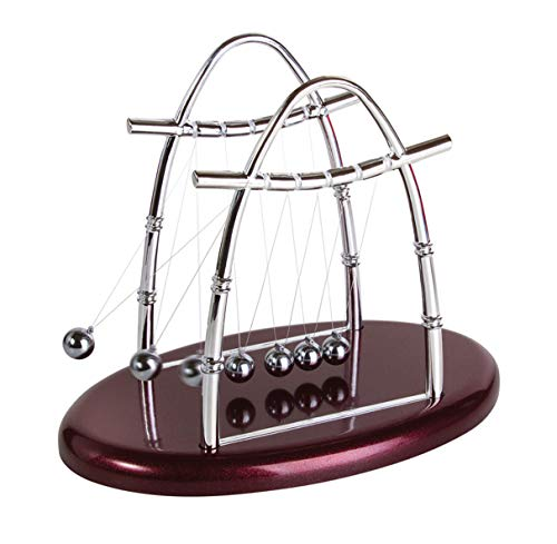 Ideas In Life Newtons Cradle Balance Balls Physics Pendulum Science Desk Office Classic Toy