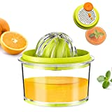 G.a HOMEFAVOR Citrus Lemon Orange Juicer, Manual Hand Squeezer with Built-in Measuring Cup and...