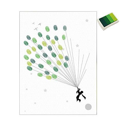 DIY Hochzeit Fingerabdruck Luftballon Unterschrift Gästebuch Malerei Mit Stempelkissen Set Für Hochzeitsfeier Abschlussdekoration Gugutogo