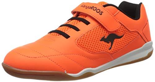 KangaROOS Raceyard Ev, Scarpe da Ginnastica Basse Uomo, Arancione (Neon Orange/Jet Black 7950), 41 EU