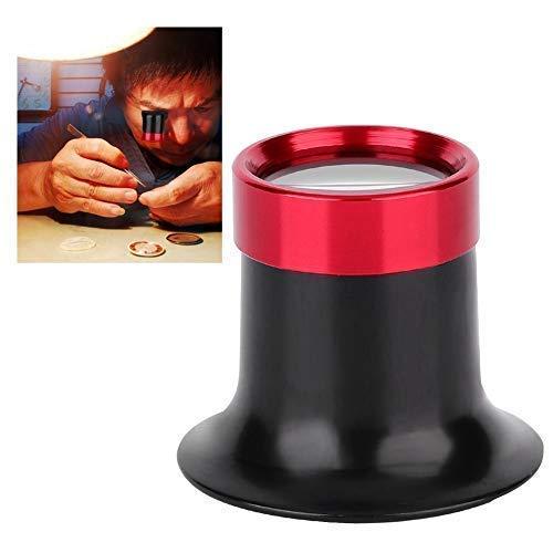 Lupa de Relojero, Relojero Lupa de Joyero Lupa para Gafas Lupa de Contacto Aleación de Aluminio 10X Reparación de Lupa, Lupa para Reparación de Reloj y Joyas