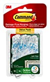 Command 17017CLRAWVPES Outdoor Light Clips, 32 clips, 36 strips
