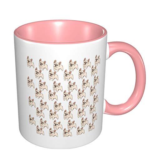French Bulldog Funny Coffee Tea Mug Personalised Mug Novelty Gift For Christmas Pink