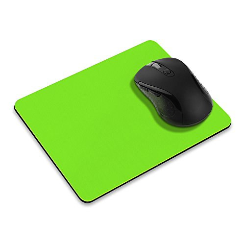 Non-Slip Rectangle Mousepad, FINCIBO Solid Green Mouse Pad for Home, Office and Gaming Desk