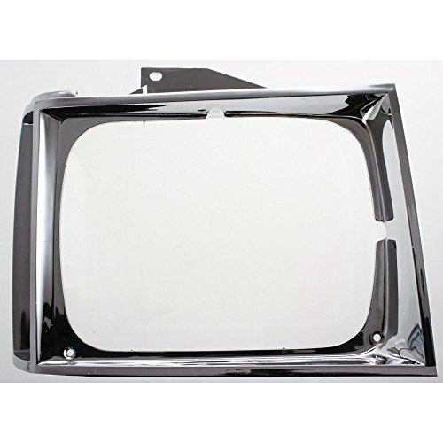 Evan-Fischer Headlight Door compatible with Chevrolet S10 Pickup 82-90 Chrome Right Side