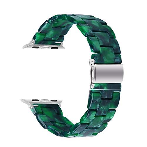 Correa de reloj de resina para Apple Watch 44 mm 40 mm para iwatch Series 5 4 3 2 1 banda 42 mm 38 mm Hebilla de metal Correa de reloj Accesorios de pulsera