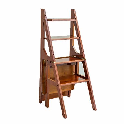 Vouwladder Vier Stap Ladder, Familie Vouwladder Bamboe Stoel Multifunctionele Ladder Decoratieve Opslag Ladder Maat 41 * 46 * 90CM Multifunctionele 41 * 46 * 90CM BRON