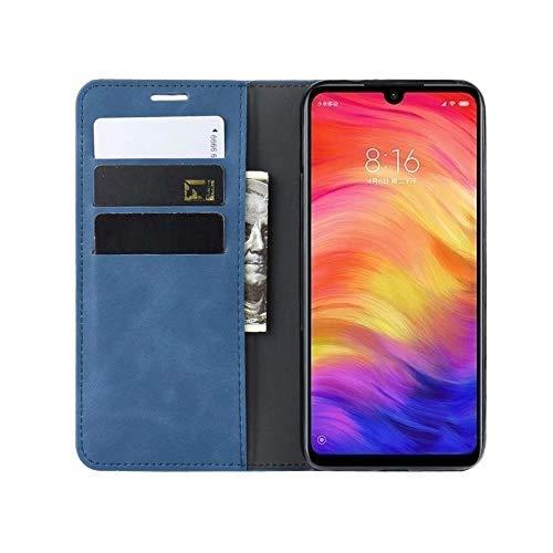 MAYO Funda Samsung Galaxy A20E, Suave PU+TPU Parachoques Funda para Samsung Galaxy A20E,Cuero Carcasa con Flip Case Cover/Cierre Magnético/Tapa Soporte Plegable-Azul