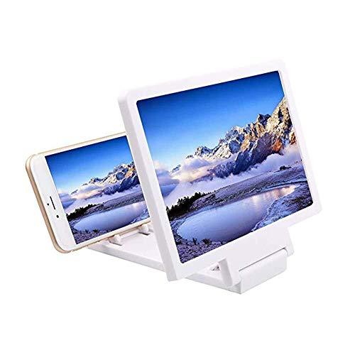 HJXSXHZ366 Halten Lupe 3D Bildschirm Lupe Smartphone Lupe Stereo Projektion Handy Lupe Film Video Verstärker Halterung mit Lautsprecher 8,5 Zoll