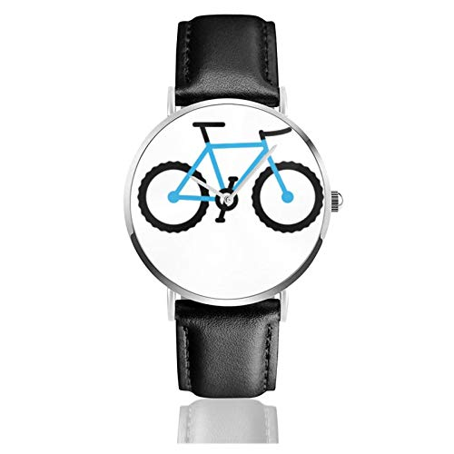 Mountain Bike Design Men Wrist Watches Genuine Leather For Gents Teenagers Boys