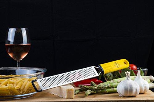 BelleGuppy Lemon Zester & Cheese Grater, Professional Zesting tool for Parmesan, Citrus, Ginger, Nutmeg, Garlic… |