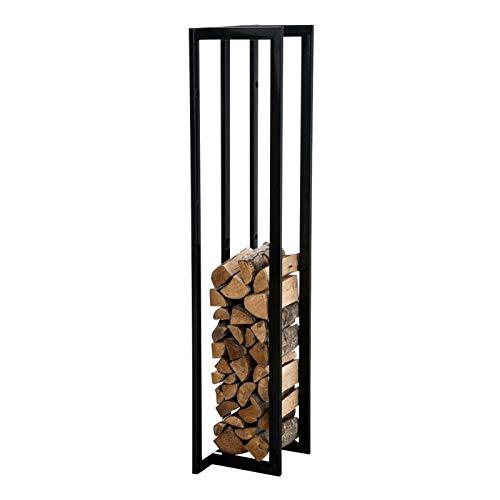 Household Products Kamin Holzträger Holzablage Halter, Kompaktstahl-Lagerregal für Innen und Außen, Holzstapelstützen am Kamin Für kleine Räume, Kamingrube dekorative Halter