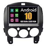 Estéreo para automóvil Sistema Android de 9 Pulgadas para Mazda 2 2007 2008 2009 2010 2011 2012 Sistema de autorradio con navegación GPS estéreo Radio Bluetooth Mirror Link Pantalla táctil