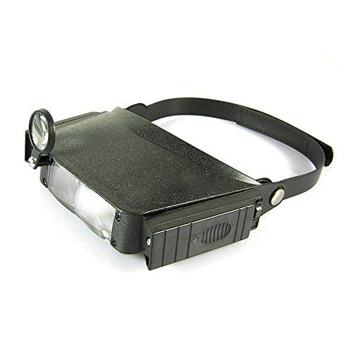 MJJEsports MG81007 1.8X 2.3X 3.7X 4.8X Helm Vergrootglas Derde Hand Verlichte Vergrootglas met Licht voor Lezen Bril Horloge Klok Reparatie
