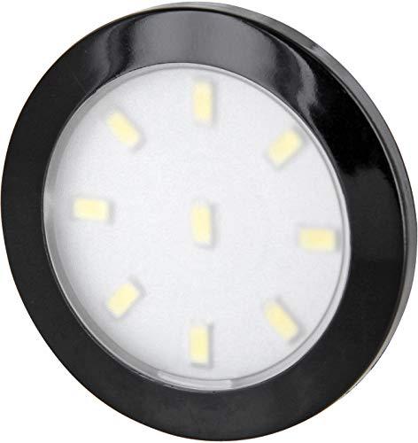 Superslim LED Möbel Aufbaustrahler schwarz rund dimmbar - 3W 280lm (warmweiß (3000 K))