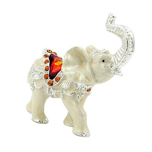 DEcus NObilis 70230 - Figurine collezionabile 'INDIAN ELEPHANT CAROSELLO' Crystal Temptations Swarovski Spectra Elements placcati di Argento Sterling 925 - decorativo casa ornamento souvenir regalo figura figurine