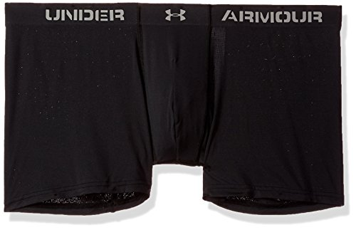 Under Armour Men's ArmourVent Mesh Series 6' Boxerjock Boxer Briefs, Black (001)/Steel, Small