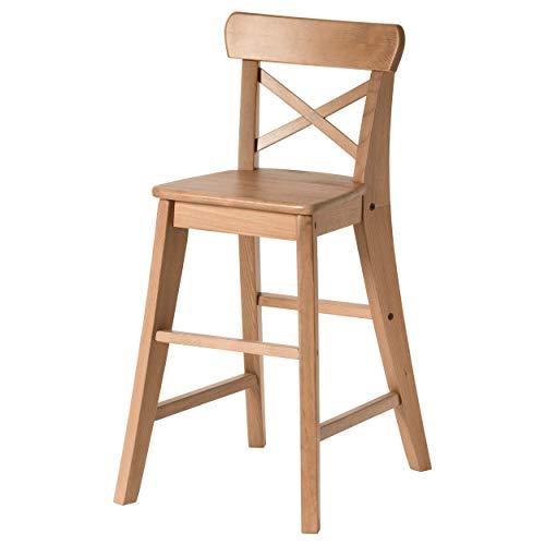 Ingolf Junior Essensstuhl Stuhl Tresenhocker Küchenhocker Thekenhocker Echtes Holz - 52cm (Natürliche)
