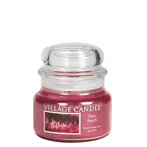 Village Candle 106311813 Palm Beach Pot de Verre, Rose, 10,1 x 10,1 x 9,9 cm