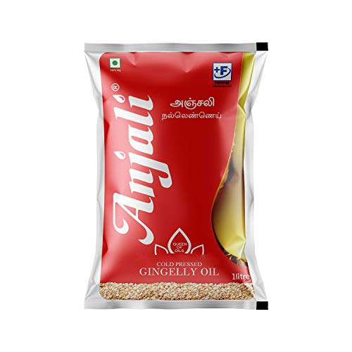 Anjali Cold Pressed Gingelly / Sesame Oil (1 Litre Pouch)
