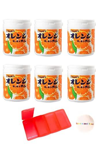 マルカワ ガム マーブルガム ボトルガムセット (オレンジ味 ×6)