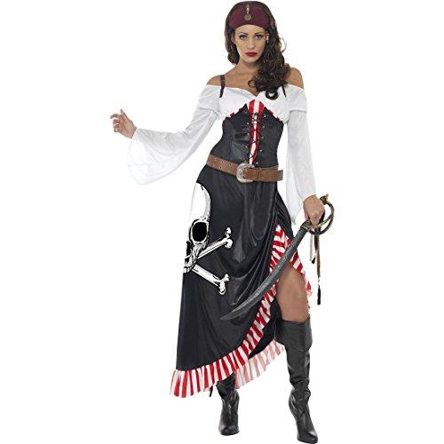 NET TOYS Traje de Pirata para Mujer Disfraz corsario Vestido bucanero