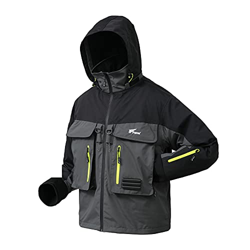 8 Fans Breathable Rain Wading Jacket -Waterproof Fishing Angler Jacket for Men and Women(XXX-Large)