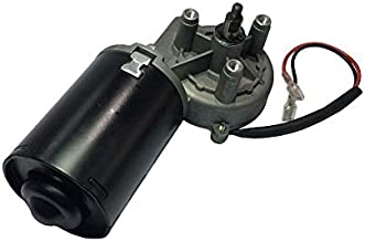 BEMONOC High Torque PMDC Right Angle Gear Motor 12V Reversible 50 RPM (Right Gear-Box) with Threaded Shaft