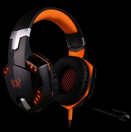 Gaming Headset Bluetooth Hoofdtelefoon Subwoofer met Microfoons stereo gesprek headset Noise Isolerende Hoofdtelefoon Voor E-sport Computer (Kleur : Oranje)