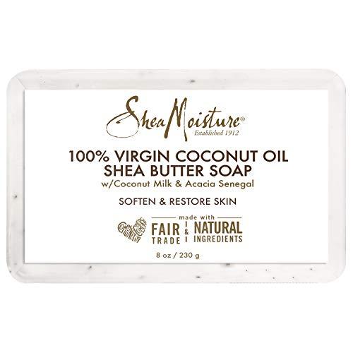 SheaMoisture Virgin Coconut Oil Bar Soap Wash, 8 Ounce