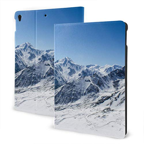 Funda para iPad 2019 Funda Protectora para iPad Air3 / 2017 iPad Pro de 10,5 Pulgadas / 2019 Funda para iPad 7 de 10,2 Pulgadas Snowy Winter Ski Runs Mountain Peak Funda Protectora