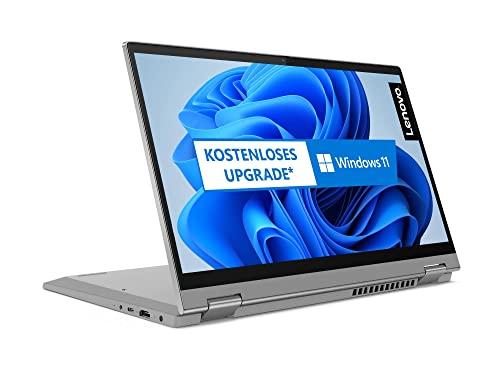 Lenovo IdeaPad Flex 5Laptop 35,6 cm (14 Zoll, 1920x1080, Full HD, WideView, Touch) Convertible Notebook (AMD Ryzen 5 4500U, 8GB RAM, 256GB SSD, AMD Radeon Grafik, Windows 10 Home) silber