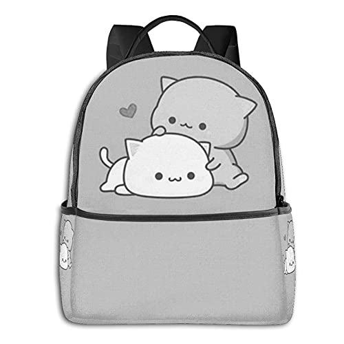Anime High School Kawai Cat Throw Pillow School Unisex Grandes Mochilas Actividad Al Aire Libre Cuatro Estaciones Diarias