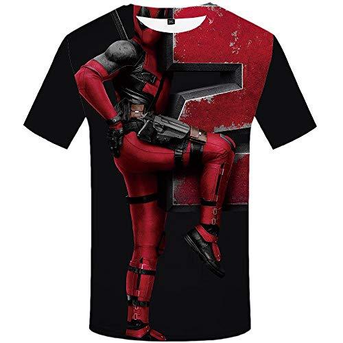 Zzfklj 3D T-Shirt Männer Badass Shirt Druck Harajuku Anime Kleidung Krieg T-Shirts Cartoon T-Shirts Casual Hip Hop Kurzarm-T8_S.