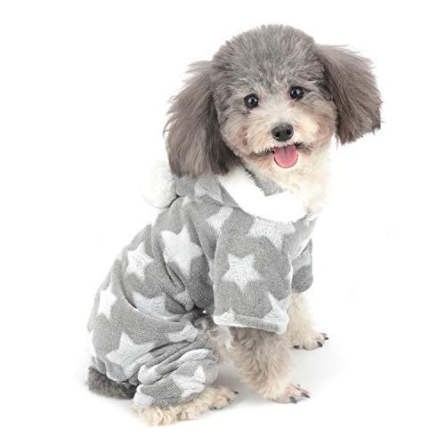 Zunea - Pijama para perro pequeño con capucha para cachorro