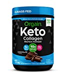 Orgain Keto Collagen Protein Powder with MCT Oil, Chocolate - Paleo Friendly, Grass Fed Hydrolyzed Collagen Peptides Type I and III, Dairy Free, Gluten Free, Soy Free, 0.88 Lb (Packaging May Vary)