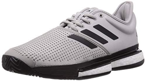 adidas Solecourt M Primeblue, Scarpe da Tennis Uomo, Grigio Due F17/Nero Core/Bianco Ftwr, 48 2/3 EU
