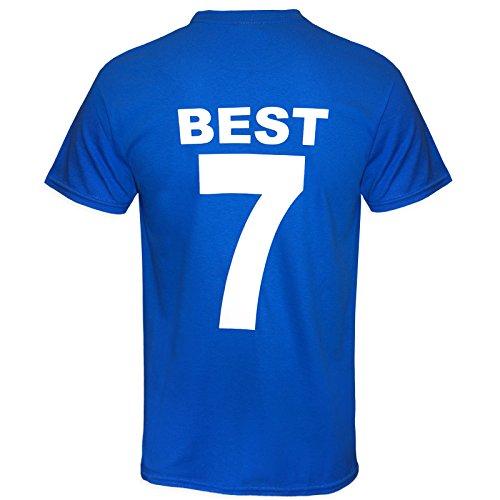 Manchester United - Camiseta homenaje - Best y Charlton en la temporada 1968 - Estilo retro - Azul Best - XL