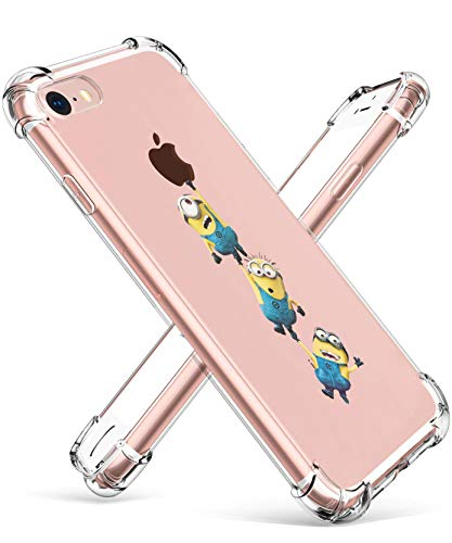 """Allsky Case for iPhone 8/7 4.7"""",Clear Cartoon Design Pattern Soft Cute Fun Ultra-Thin Cover,Kawaii Kids Girls Teens Animal Skin Creative Shockproof Funny Piglet.Cases for iPhone 8/7 Yellow Man"""