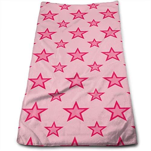 Hgfyef Serviettes douces pour le visage, lingettes pour les mains, famille, salle de bain Spa Rose étoiles
