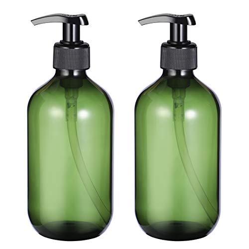 OUNONA 2PCS Leere Shampoo Flaschen Seifenspender Lotion Pumpflaschen Container 500 ml (Grün)