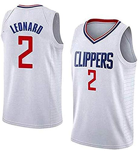 Men's Kawhi Leonard #2 Jersey - New 19-20 NBA Los Angeles Clippers Basketball Fans Jersey Youth Game Jerseys (S-XXL)