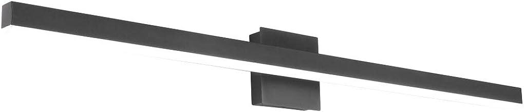 Aipsun 40 inch Modern Black Vanity Light LED Black Bathroom Vanity Light Fixtures Black Wall Light for Bathroom (White Light)