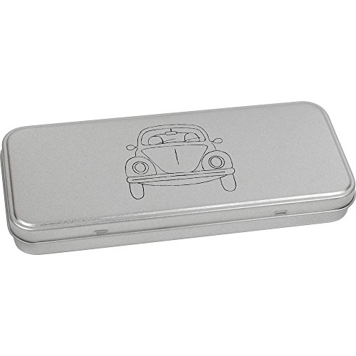 180mm x 75mm 'Voiture Ancienne' boîte de Papeterie métal (TT00083552)